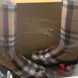 Women's Burberry Nova Check Rain Boots